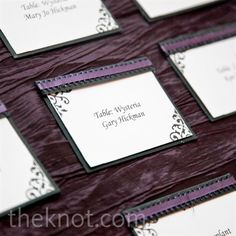 Kind of like the purple ruched linens.. maybe just a couple for the dessert or card table?