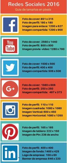 Guía de tamaño de imágenes para redes sociales || Cada vez que cambiamos nuestras imágenes en redes sociales, tenemos que recordar las dimensiones adecuadas para cada una de ellas. Aquí, una guía rápida.