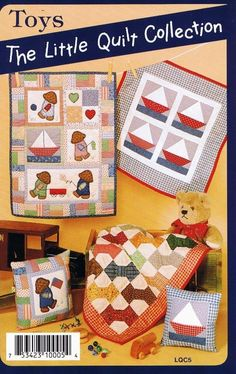 Toys   Quilt Pattern by Little Quilts  Miniature Quilting Projects #LittleQuilts