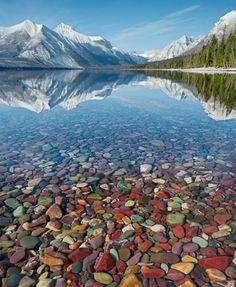 Crystal Clear Lake McDonald Montana.