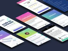 Conference iOS Android App by Elizabeth Gilmore Android App Design, Android Apps, App Wireframe, Facebook Developer, Event Branding, Ui Design Inspiration, Mobile Ui, Visual Communication, Conference