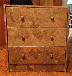 Leather-Look 3 Drawer Chest on Etsy, $155.00