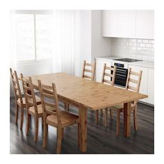 STORNÄS Extendable table, antique stain solid wood