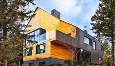 Design træhus i fyrretræ hitter