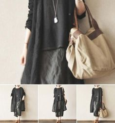 Black and Gray Thin Linen Wind Coat Causel Women Clothes