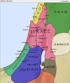 Kingdoms at the time of King Josiah.