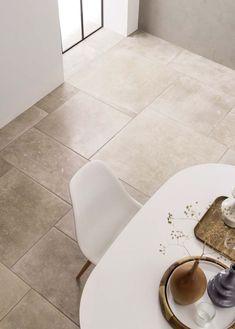 Ref : N 04 / Pierre beige vintage pose opus. Ceramic Floor Tiles, Tile Floor, Porcelain Tiles, Flagstone Tile, Wood Effect Tiles, Italian Tiles, Tile Manufacturers, Decorative Tile, Stone Flooring