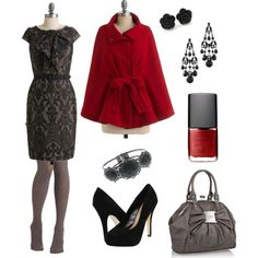 Splash of red on a grey day, created by sdutton12.polyvore.com