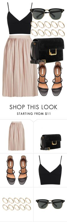 """Untitled #5773"" by laurenmboot ❤ liked on Polyvore featuring Topshop, Yves Saint Laurent, H&M, Miss Selfridge, ASOS and Ray-Ban"