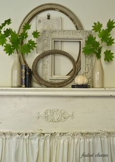 How wonderfully simple and charming these leafy twigs are!  Faded Charm: ~Natural Beauty~