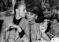David Bowie, Romy Haag. Paris, L'Alcazar Club, May 18 1976.