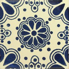 Traditional Mexican Tile - Lace Azul - Mexican Tile Designs