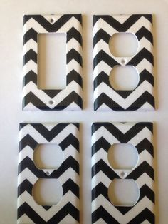 Blue and Gray Chevron Light Switch Plate Cover / Turquoise and Gray ...