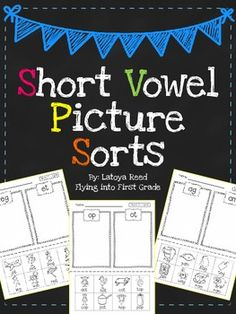 Short Vowel Picture Word Sorts *Free**** I'm using it whole class. Each student… Kindergarten Language Arts, Teaching Language Arts, Kindergarten Literacy, Teaching Aids, Preschool, Phonics Reading, Teaching Reading, Reading Resources, Reading Strategies