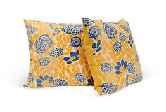 Love these!  Art Deco-Style Linen Pillows, Pair on OneKingsLane.com