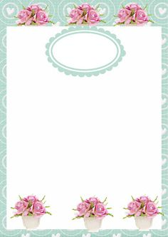 Printable Labels, Printables, Frame Floral, Powerpoint Background Design, Iphone 7 Wallpapers, Planner Sheets, Borders And Frames, Nature Wallpaper, Stationery