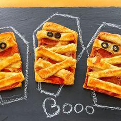 Mummy Pizza Puffs #halloween