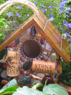 wine cork bird house ... I could make a few hundred of these ...