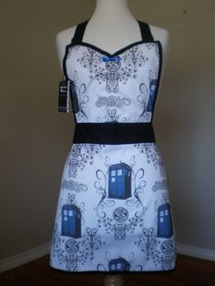 Dr Who Tardis full apron by HauteMessThreads on Etsy,  Ummm Heather this is awesome!!