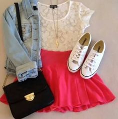 47 Ideas For Dress Skater Outfit Casual Teen Fashion Cute Summer Outfits, Girly Outfits, Outfits For Teens, Pretty Outfits, Casual Outfits, Summer Clothes, Casual Summer, Spring Outfits, Casual Wear