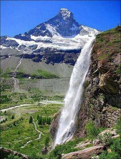 Arbenbach waterfall, Valais, Switzerland