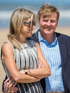 Queen Maxima and King Willem-Alexander of The Netherlands pose for pictures on July 10, 2015 in Wassenaar, Netherlands