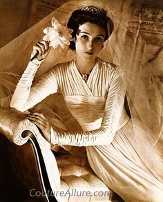 Babe Paley in her wedding dress when she married Stanley Mortimer. Photo by Horst, 1940.