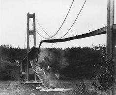 Tacoma Narrows Bridge Collapse (U.S. state of Washington, 1940).