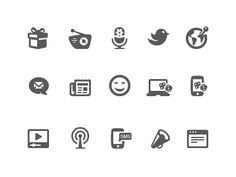 Social icons 2 designed by Pixotico. Connect with them on Dribbble; Icon Design, Web Design, Communication Icon, Custom Icons, Best Icons, Social Icons, Icon Set, Symbols, Words