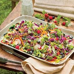 Kale-and-Blueberry Slaw with Buttermilk Dressing | MyRecipes.com