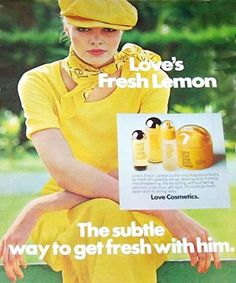 Love's Lemon Scent is a refreshing lemon fragrance. Love's Lemon Scent was launched during the 1970's.  I loved this as a teen in the 70s.