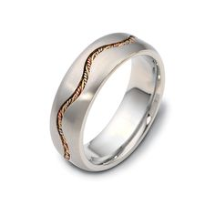 Tri color gold roped wedding band | Wandering | Timeless Wedding Bands