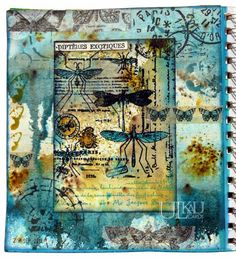 Ulkau : Insekten im ArtJournal design layout ideas Art Journal Pages, Junk Journal, Art Journaling, Kunstjournal Inspiration, Art Journal Inspiration, Journal Ideas, Mixed Media Canvas, Mixed Media Art, Ecole Art