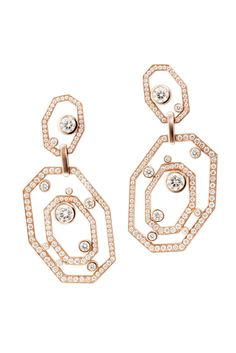 Octium couture rose gold and diamond earrings (POA).