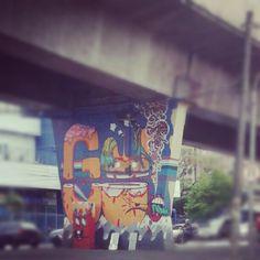 Mais um do 1º Museu Aberto de Arte Urbana. Av. Cruzeiro do Sul. São Paulo - SP.