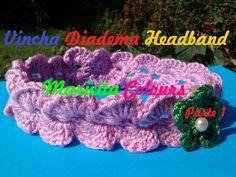 "Crochet Tutorial Vincha Bebe Diadema Banda ""Celine"" (Parte 1) Subtitles ..."