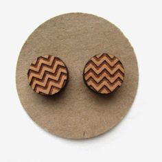 earrings laser cut wood studs - Google zoeken