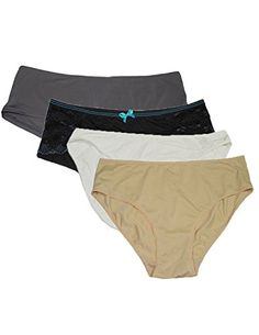 (Pack of 4) Damen Soft & Komfortable weist Unterwäsche Panties XL Multicolor