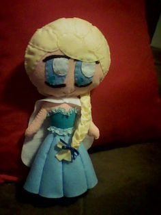Elsa - Frozen em feltro