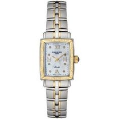 Raymond Weil Women's 9740-STS-00995 Parsifal Diamond Accented 18k Gold-Plated and Stainless Steel Watch,$1,266.78