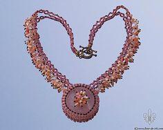 Rose quartz necklace Pink necklace Statement by FleurDeIrk on Etsy