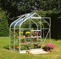 Halls 6x4 Supreme Aluminium Greenhouse + Aluminium Base-frame - Toughened Glass