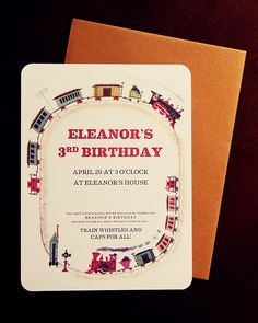 Train Party Invitations (Free Printable)