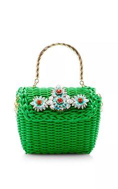 Brigitte Embellished Bag by Shourouk Now Available on Moda Operandi