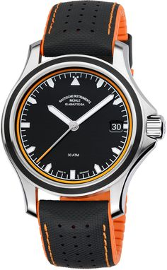 Muhle Glashutte Watch ProMare Datum. Orange & black is a great colour combo and works really well on this watch