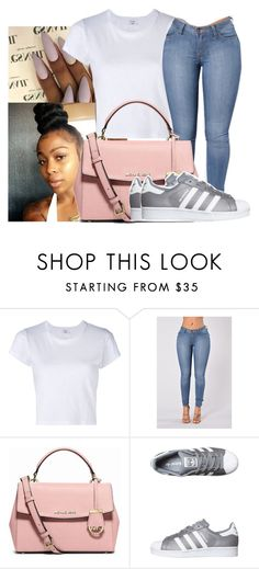 """Untitled #772"" by sipping-gold ❤ liked on Polyvore featuring RE/DONE, MICHAEL Michael Kors and adidas Originals"