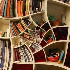 Crazy Bookshelf, - 60 Creative Bookshelf Ideas  <3 <3