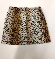 Vintage 90's high waist velvet leopard mini skirt by ozziedotsvtg