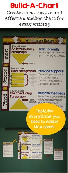 Build an anchor chart for essay writing and revision.