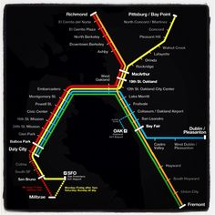 SF Bart Map. The only way to travel<3 #MyHometownPins